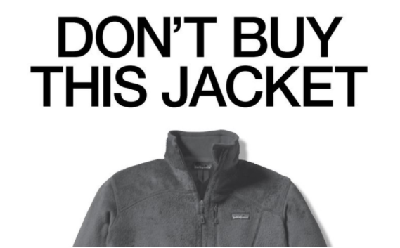 Image of Patagonia's 'Don't Buy This Jacket' Black Friday marketing campaign.